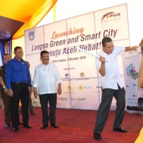Plt Gubernur Aceh Launching Langsa Green and Smart City Menuju Aceh Hebat